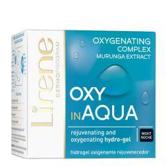 Lirene Night Moisturizing Cream with Oxygen Complex OXY in Aqua for Normal Skin (50mL)