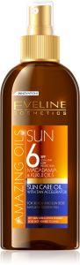 Eveline Cosmetics Amazing Oils Sun Care Oil With Tan Accelerator Spf6 (150mL)