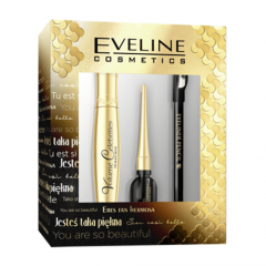 Eveline Cosmetics Eye Make-upgift Set: Mascara, Eye Liner, Eye Liner Pencil