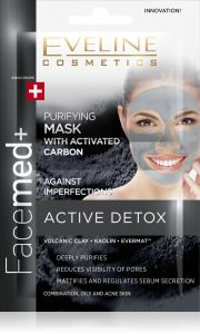 Eveline Cosmetics Facemed Purifying Face Mask With Activated Carbon (2x5mL)