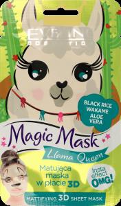 Eveline Cosmetics Fabric Face Mask Magic Mask Llama