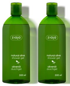 Ziaja Natural Olive Shower Gel (2x500mL)