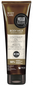 Hello Nature Body Milk Gel Coconut Oil Moisture & Repair (250mL)