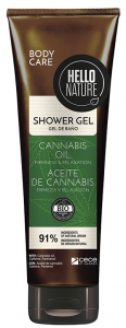 Hello Nature Shower Gel Cannabis Oil Firmness & Relaxation (250mL)