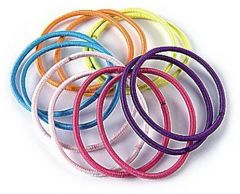 Donegal Ponytail Holder Black/Mix Colors (12pcs)