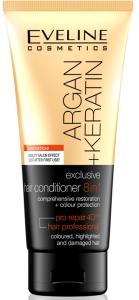 Eveline Cosmetics Argan + Keratin Hair Conditioner 8in1 (200mL)