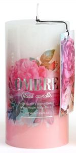 Artman Candles Aroma Candle Ombre Pink 61H (7x8cm)