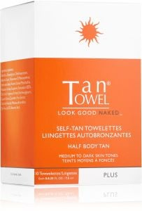 Tan Towel Self Tan Towelettes Half Body (10pcs) Plus Medium to Dark Skin