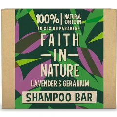 Faith in Nature Shampoo Bar Lavender & Geranium (85g)