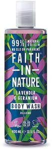 Faith in Nature Relaxing Shower Gel/Foam Bath Lavender & Geranium (400mL)