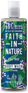 Faith in Nature Cleansing Shower Gel/Foam Bath Tea Tree (400mL)