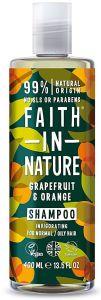 Faith in Nature Invigorating Shampoo Grapefruit & Orange (400mL)