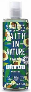 Faith in Nature Nourishing Body Wash/Bath Foam Avocado (400mL)