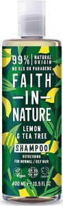 Faith in Nature Refreshing Shampoo Lemon & Tea Tree (400mL)