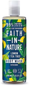 Faith in Nature Refreshing Shower Gel/Foam Bath Lemon& Tea Tree (400mL)