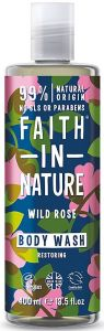 Faith in Nature Restoring Shower Gel/Foam Bath Wild Rose (400mL)