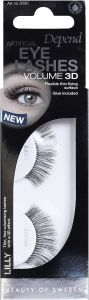 Depend Artificial Eye Lashes Volume 3D Lilly + Glue