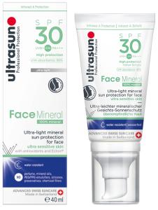 Ultrasun Sun Protection Gel Mineral Face SPF30 (40mL)