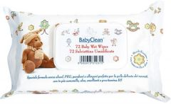 Baby Clean Baby Wet Wipes Pack with Plastic Lid (72psc)