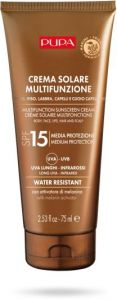 Pupa Multifunction Sunscreen Cream Body, Face, Lips, Hair and Scalp SPF 15 (75mL)