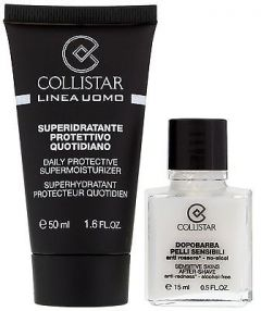 Collistar Men Daily Protective Supermoisturizer (50mL) + Aftershave Sensitive Skin (15mL)