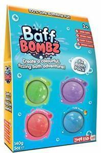 Zimpli Kids Baff Bombz 4 Bath Pack (140g)