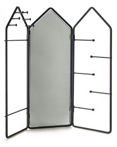Balvi Jewellery Rack House Black Colour Mirrored (29,5x32,5x2cm)