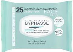 Byphasse Make-up Remover Wipes Aloe Vera Sensitive Skin (25pcs)