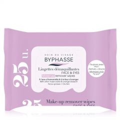 """Byphasse Make-Up Remover Wipes Oily Skin """"Pop-Up"""" (25pcs)"""