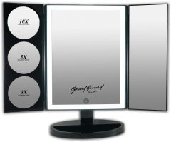 Gerard Brinard Black LED Make-Up Mirror With Touch Button
