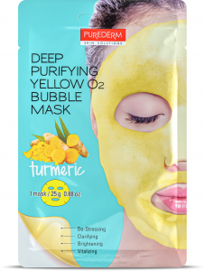 Purederm Deep Purifying Bubble Mask Tumeric
