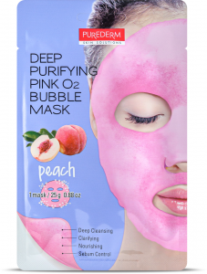 Purederm Deep Purifying Pink O2 Bubble Mask