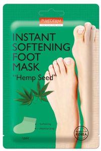 "Purederm Instant Softening Foot Mask ""Hemp Seed"""