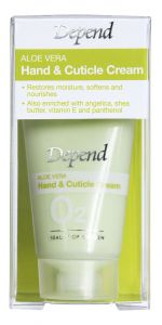 Depend O2 Aloe Vera Hand &Cuticle Cream (20mL)