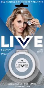Schwarzkopf Live Paint it! Hair chalk Grey Crush (3.5g)