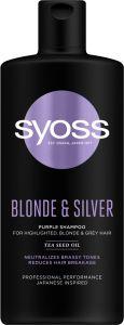 Syoss Shampoo Blonde&Silver (440mL)