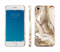 iDeal of Sweden Fashion Case iPhone 8/7/SE (2020) Golden Sand Marble