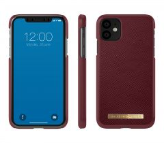 iDeal of Sweden Fashion Case Saffiano iPhone 11 Burgundy