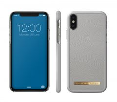 iDeal of Sweden Fashion Case Saffiano iPhone X/XS Light Grey