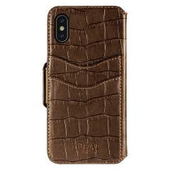 iDeal of Sweden Fashion Wallet iPhone X/Xs Capri & Como, Brown Croco