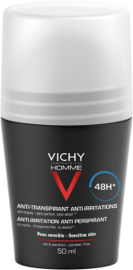 Vichy Homme 48h Anti-Irritation Roll-on Deodorant (50mL)
