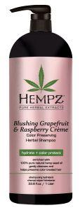 Hempz Blushing Grapefruit & Rasberry Crème Herbal Shampoo (1000mL)