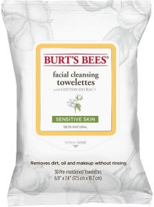 Burt's Bees Facial Cleansing Towelettes with Cotton Extract (30psc) Sensitive Skin