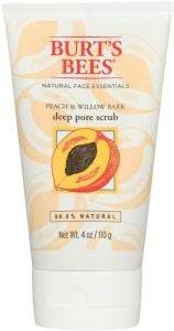 Burt's Bees Peach & Willow Bark Deep Pore Scrub (110g)