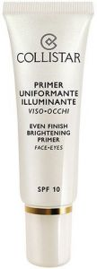 Collistar Even Finish Brightening Primer Face&Eyes SPF10 (30mL)
