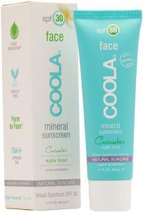 Coola Mineral Face SPF 30 Matte Cucumber (50mL)
