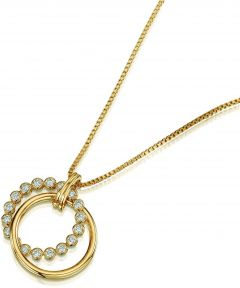 Buckley London Friendship Tennis Ring Pendant CZGN271
