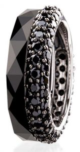 Dondella Ring Ceramic Black 18.5 CJT33-1-R-58