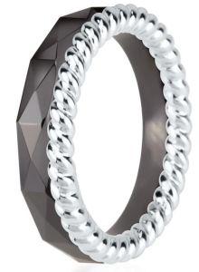 Dondella Ring Ceramic Rope 17.75 CJT22-1-R-56