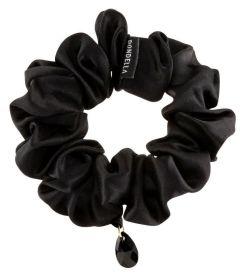 Dondella Luxury Silk Black Scrunchie HSC4-J-M
